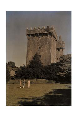 Visitors Admire the Blarney Castle from the Lawn by Clifton R. Adams