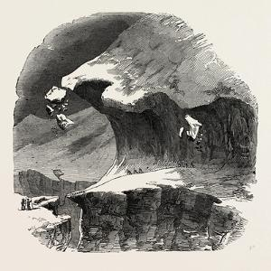Climbing the Mont Blanc: Above the Grand Plateau: a Large Crevasse, Alps, French Alps, France, 1851
