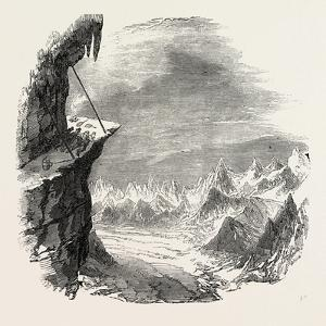 Climbing the Mont Blanc: the Grands Mulets, Evening View, Alps, French Alps, France, 1851