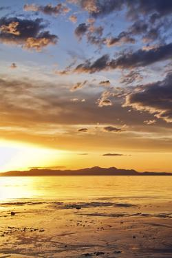 Sunset at the Great Salt Lake in Utah on a Warm Early Spring Day by Clint Losee