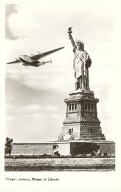 Clipper Passing Statue of Liberty, New York City