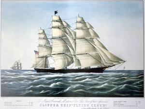 Clipper Ship Flying Cloud, 1851-1907 by E Brown Jr