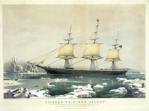 Clipper Ship 'Red Jacket' in the Ice Off Cape Horn