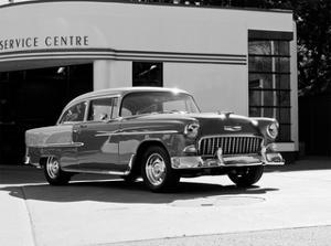 1955 Chev Belair 7 B&W by Clive Branson
