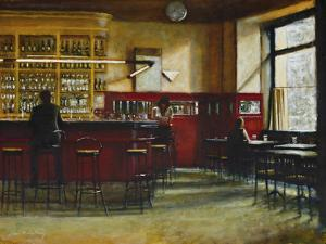 Afternoon in Cafe Central, Madrid by Clive McCartney