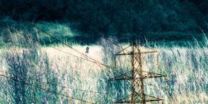 Conceptual Image of Electricity Pylon by Clive Nolan