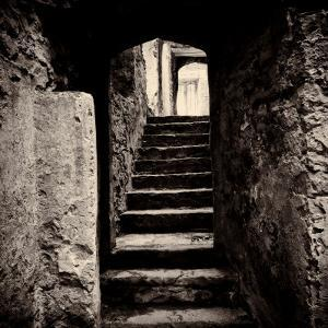 Doorway and Steps in Castle Ruins by Clive Nolan