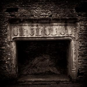 Fireplace in Medieval Castle Ruins by Clive Nolan