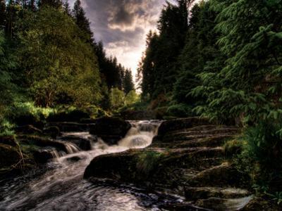 Waterfall, River Severn, Hafren Forest, Wales