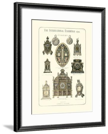 Clocks 1876--Framed Giclee Print