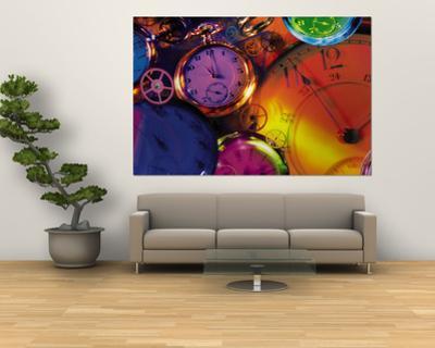 Clocks, Still Life, Time, Clock Hands, Montage