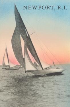 Close-Hauled Sailboat, Newport, Rhode Island