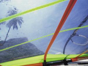 Close-up Image of a Windsurfing Sail