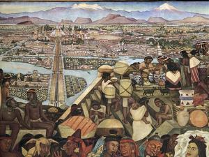 Close-Up of a Mural, the Great City of Tenochtitlan, Mexico City, Mexico