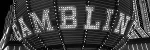 Close-Up of a Neon Sign of Gambling, Las Vegas, Clark County, Nevada, USA