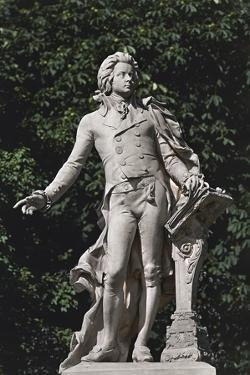 Close-Up of a Statue, Mozart Statue, Vienna, Austria