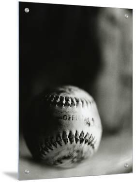 Close-up of a Worn Baseball