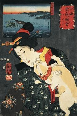 Close-Up of a Young Woman with a Cat in Her Arms
