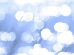Close-Up of Abstract Blue Background with White Circles