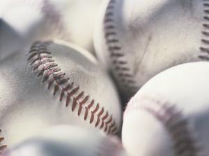 Close-up of Baseballs