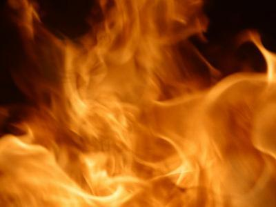 Close-Up of Blazing Flames of Fire