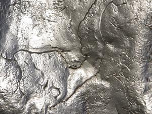 Close-up of Rough Texture on Shiny Metallic Surfaces
