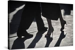 Close-Up Of Tango Dancers