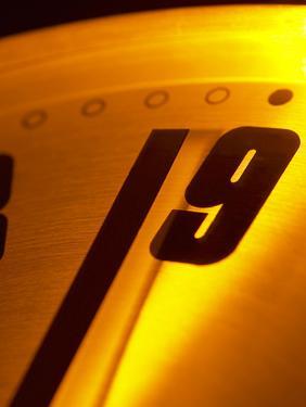Close-up of Ticking Clock