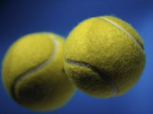 Close-up of Two Tennis Balls