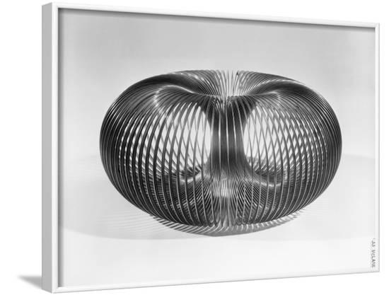 Close up View of American Toy Slinky--Framed Photographic Print