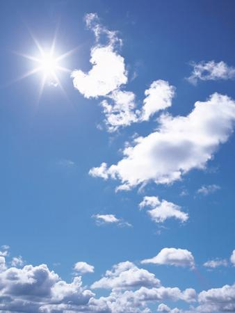 Clouds in Blue Sky, Lens Flare