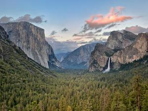 Clouds over a Valley, Yosemite Valley, Yosemite National Park, California, USA