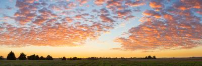 Clouds over landscape at sunset, Prairie Ridge State Natural Area, Marion County, Illinois, USA