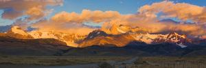 Clouds over Mountains at Sunrise, Monte Fitz Roy, Argentine Glaciers National Park, Patagonia, A...