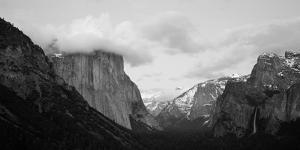 Clouds over Mountains, Yosemite National Park, California, USA