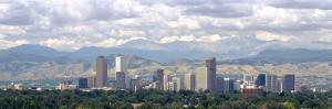 Clouds over Skyline and Mountains, Denver, Colorado, USA