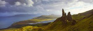 Clouds over the Old Man of Storr, Portree, Isle of Skye, Inner Hebrides, Highlands Region, Scotland