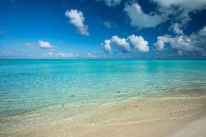 Clouds over the Pacific Ocean, Bora Bora, Society Islands, French Polynesia