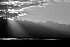 Clouds Rays In Black and White, 2018