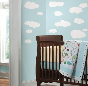 Clouds (White) Peel & Stick Wall Decals