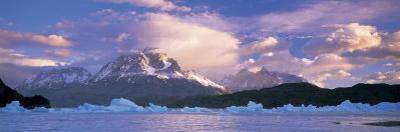 Cloudy Sky over Mountains, Lago Grey, Torres del Paine National Park, Patagonia, Chile