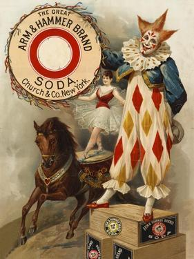 Clown, Horse, Acrobat and Arm and Hammer Brand Soda
