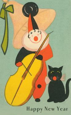 Clown Playing Bass, Cat Howling