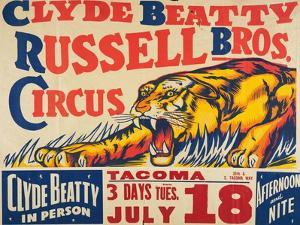"""""""Clyde Beatty, Russell Bros. Circus"""", 1935"""