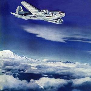 """Flight Above Clouds,"" August 17, 1940 by Clyde H. Sunderland"