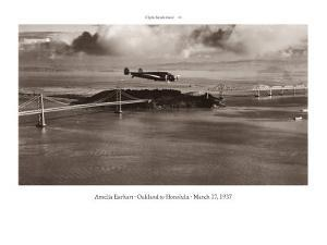 Amelia Earhart in Flight, Oakland to Honolulu, March 17, 1937 by Clyde Sunderland
