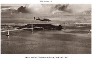 Amelia Earhart in Flight, Oakland to Honolulu, March 17, 1937 by Clyde Sunderland