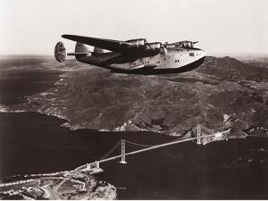 Boeing B-314 over San Francisco Bay, California 1939 by Clyde Sunderland
