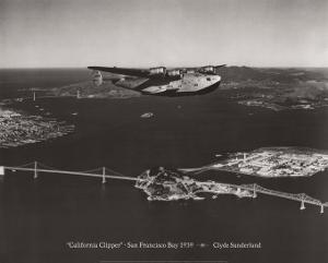 California Clipper, San Francisco Bay, California 1939 by Clyde Sunderland