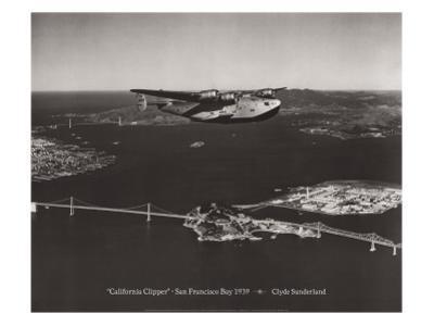 California Clipper, San Francisco Bay, California 1939 by Clyde Sunderland